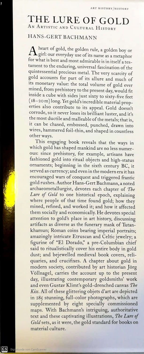 The Lure of Gold. An Artistic And Cultural History 3 (3)