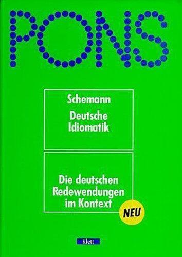 Pons Deutsche Idiomatik | Idiomatic Gertman Dictionary | Dicionário Idiomático de Alemão