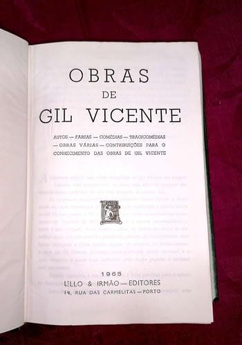 Obras Completas de Gil Vicente